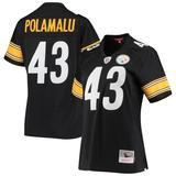 Women's Mitchell & Ness Troy Polamalu Black Pittsburgh Steelers Legacy Replica Team Jersey