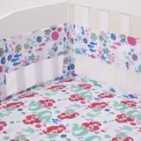 Disney Bedding | Ariel Ocean Beauty Secure-Me Crib Liner | Color: Pink/White | Size: Os