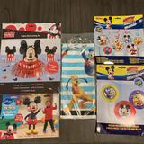 Disney Party Supplies | Mickey Mouse 5pc Birthday Bundle | Color: Blue/Red | Size: Os