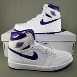 Nike Shoes | Nike Air Jordan 1 High Og Court Purple Womens 10 | Color: Purple/White | Size: 10