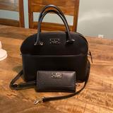 Kate Spade Bags   Kate Spade Pebble Leather Satchel Purse And Wallet   Color: Black   Size: Os