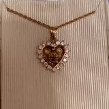 Disney Jewelry | New Disney Mickey Mouse Diamond Encrusted Necklace | Color: Gold | Size: Os