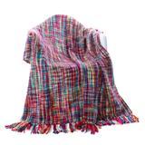 "Battilo Home Tropical Style Multi-Color Rainbow Throw Blanket, 63"" x 49"" by Battilo Home in Multi (Size 63"" X 49"")"