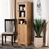 Baxton Studio Lauren Modern and Contemporary Oak Brown Finished Wood Buffet and Hutch Kitchen Cabinet - Wholesale Interiors DR 883300-Wotan Oak