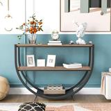 """17 Stories Babbett 48"""" Console Table Wood in Black/Brown, Size 33.85 H x 48.0 W x 15.0 D in 