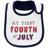 Carters Baby Boys My First Fourth Of July Bib