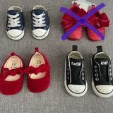 Converse Shoes | Infant Converse And Baby Mary Janes | Color: Black/Red | Size: 3bb