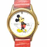 Disney Accessories | Disney X Seiko Vtg Mickey Mouse Watch | Color: Red/White | Size: Os