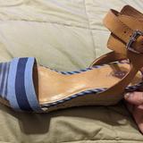 Coach Shoes | Coach Blue Helen Espadrille Sandals Wedges | Color: Blue | Size: 9.5