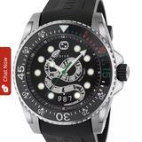 Gucci Accessories | Men'S Gucci Snake Black Swiss Diver Watch 45mm | Color: Black | Size: 45mm