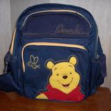 Disney Accessories | Pooh Bear Backpack With Hand Case | Color: Gold/Red | Size: Boys Or Girls
