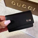 Gucci Accessories   Auth. Gucci Black G Unisex 6 Key Holder Wallet   Color: Black   Size: 3.8 X 0.65 X 2.75