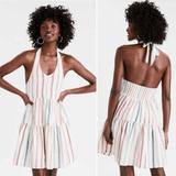 American Eagle Outfitters Dresses   Ae Striped Halter Babydoll Dress Nwt   Color: Cream/Pink   Size: S
