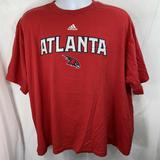 Adidas Shirts | Adidas Mens Xl Atlanta Hawks Nba Spell Out Tee | Color: Red/White | Size: Xl