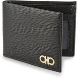 Revival Bi-fold Leather Wallet - Black - Ferragamo Wallets