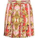 Silk Miniskirt With Teddy Scarf Print - Red - Moschino Skirts