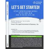 MindTap Business Law, 1 term (6 months) Printed Access Card for Cross/Miller's The Legal Environment of Business: Text and Cases, 10th (MindTap Course List)
