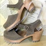 Free People Shoes | Free People Sandal Dover Suede Strap Platform Clog | Color: Brown/Gray | Size: 40 9.5