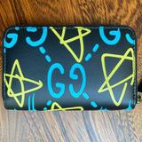 Gucci Bags   Gucci Gg Ghost Card Holder Wallet   Color: Black/Blue   Size: 4.9l X 0.8w X 3.1h