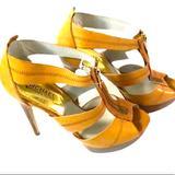 Michael Kors Shoes | Michael Kors Berkley Stiletto Heels | Color: Tan | Size: 8.5