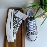 Converse Shoes | Converseleopard Print Platform Sneakers Sz 5.5 | Color: Black/Brown | Size: 5.5