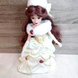 Disney Toys   Disney Belle Porcelain Doll With Stand   Color: Tan   Size: Osg