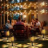 KOOPER 8 Packs Solar Pathway Lights Outdoor, Bright Solar Garden Lights Decorative,waterproof Solar Powered Lights in Black | Wayfair HG0053