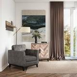 """Scott Living Mesa 32"""" W Polyester Armchair Polyester/Polyester blend in Black/Brown/Gray, Size 33.0 H x 32.0 W x 35.0 D in 