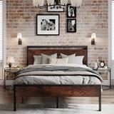 Trent Austin Design® Cournoyer Platform Bed Wood/Metal in Black, Size 39.0 H x 56.0 W x 80.0 D in   Wayfair BEBA2ADF099245159E49A1FD1463D8C7
