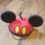 Disney Accessories   Disney Parks Mickey Mouse Ears Kid'S Hat   Color: Black/Red   Size: Osbb