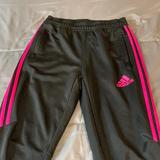 Adidas Bottoms | Large Adidas Youth Pants Size 1216. | Color: Black/Pink | Size: Lg