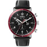 The Canfield Automatic Chrono Calendar Leather-strap Watch - Black - Shinola Watches