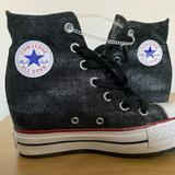 Converse Shoes | Converse All Star Platform Plus Wedge Sneakers | Color: Black/Gray | Size: 5.5