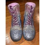 Sz 2 Polly Sophia / Sam Edelman Sparkle Rainbow  Combat Boots 🥰