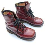 DOC MARTENS Vintage England made red combat boots