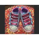 NWOT HIGH TOP TWINKLE TOE SKETCHERS LITTLE GIRLS SIZE 7 Mermaid Colors On These Shoes