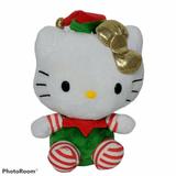 """Ty Hello Kitty Beanie Baby Santa's Helper Elf Christmas Plush 2012 6.25\"""""