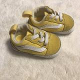 Baby Vans Yellow Crib Shoes Size 1
