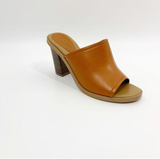 Old Navy Size 6 Cognac Heeled Pump Sandal