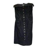 Betsey Johnson Womens denim pin up strapless wiggle dress Size 4 Vintage