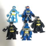 Imaginext Batman Figure Set Artic Ice Blue Grey Helmet Orange Visor White Five 5 FIsher-Price Action Figures