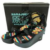 Harajuku high heel jelly wedge platform sandals SIZE 7 BRAND NEW!