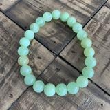 8mm Green Jade Stretch Bead Bracelet
