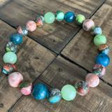 Jasper - Jade - Apatite Chakra Stretch Bracelet
