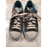 Skechers Light Up Twinkle Toes Size 3 Girls Shoes