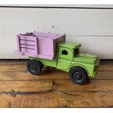 African Market Truck   1950s Wooden Toy   Handmade Car