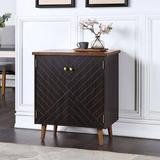 Mercer41 Solid Wood 2 - Door Accent Cabinet in Brown, Size 32.0 H x 28.0 W x 18.0 D in | Wayfair E90B97C041EF45B1A08A15332DFAA677
