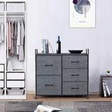 Rebrilliant Dresser w/ 5 Drawers For Bedroom - Storage Tower, Bedside Furniture & Night Stand End Table Dresser For Home, Office, College Dorm