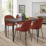 Latitude Run® Upholstered Side Chair/Dinning Chair (Set Of Two) Wood/Upholstered/Fabric in Orange, Size 319.0 H x 181.0 W x 197.0 D in | Wayfair