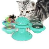 Tucker Murphy Pet™ New Style Toy Windmill Cat Toy Turntable Teasing Pet Toy Scratching Tickle Cats Hair Brush Funny Cat Toy Cat Chew Toy,Cat Toy For Teeth Cleaning